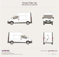2007 Renault Trafic X83 Van SWB High Roof Facelift Van blueprint