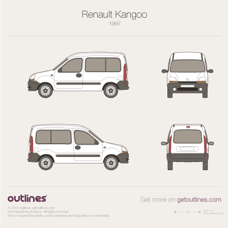 1997 Renault Kangoo Wagon blueprint