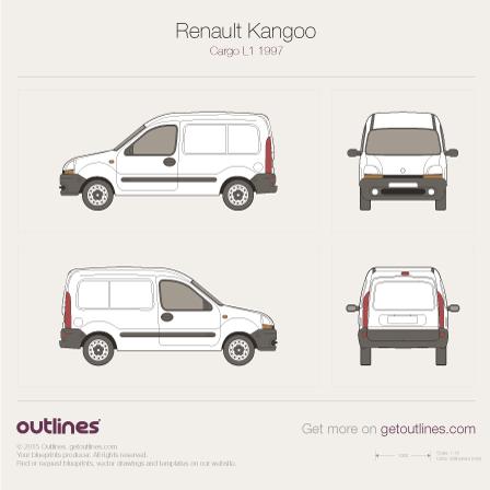 1997 Renault Kangoo Cargo Van blueprints and drawings