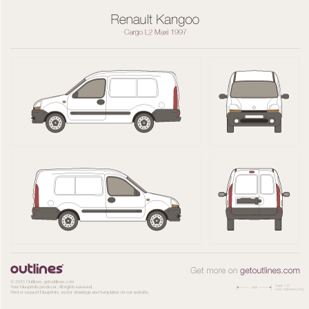 1997 Renault Kangoo Cargo Maxi Van blueprints and drawings