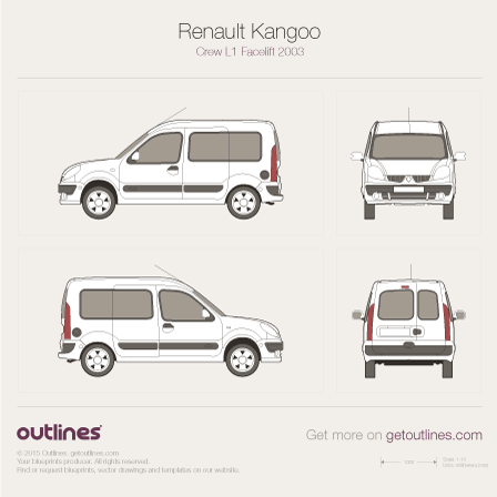 2003 Renault Kangoo Crew Van Van blueprints and drawings