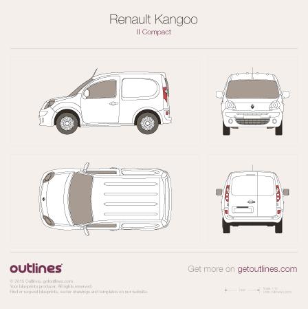 2008 Renault Kangoo Compact Van Van blueprints and drawings