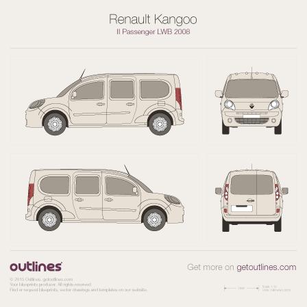 2008 Renault Kangoo Passenger Wagon blueprints and drawings