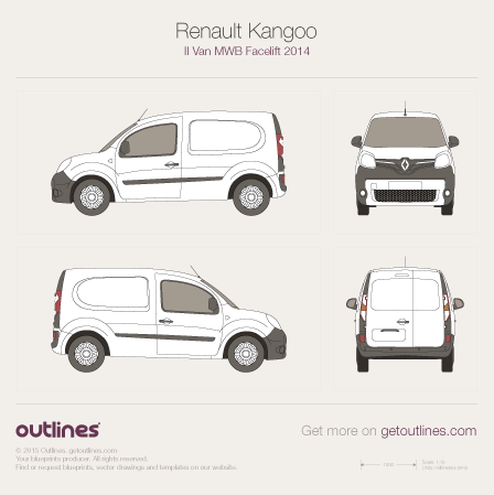 2014 Renault Kangoo Van Van blueprints and drawings