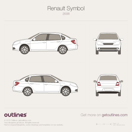 2008 Renault Clio Symbol II Sedan blueprint