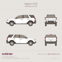 2004 Saturn VUE Red Line SUV blueprint
