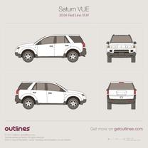 2004 Saturn VUE Red Line SUV blueprint