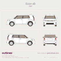 2007 Scion xB Microvan blueprint
