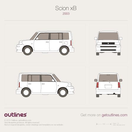 2003 Scion xB Microvan blueprint