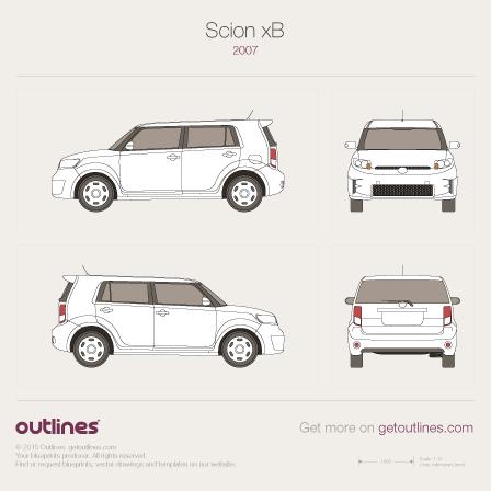 2007 Scion xB Microvan blueprint