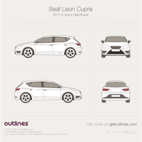 2015 Seat Leon Cupra 5-doors Hatchback blueprint