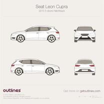 Seat Leon Cupra blueprint