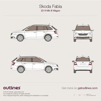 2014 Skoda Fabia III Wagon blueprint