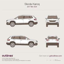 2017 Skoda Karoq SUV blueprint