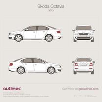 2013 Skoda Octavia Liftback, Typ 5E, Mk3, A7 Hatchback blueprint