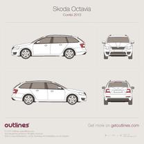 2013 Skoda Octavia A7 Wagon blueprint