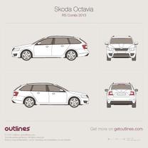 2013 Skoda Octavia RS A7 Mk III Wagon blueprint