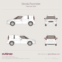 2006 Skoda Praktik Van blueprint