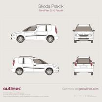 2010 Skoda Praktik Facelift Van blueprint