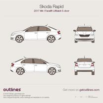 Skoda Rapid blueprint