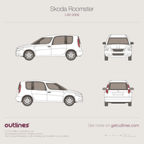 2006 Skoda Roomster Minivan blueprint