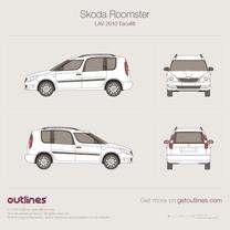 2010 Skoda Roomster Facelift Minivan blueprint