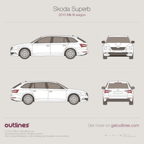 2015 Skoda Superb Mk III Wagon blueprint