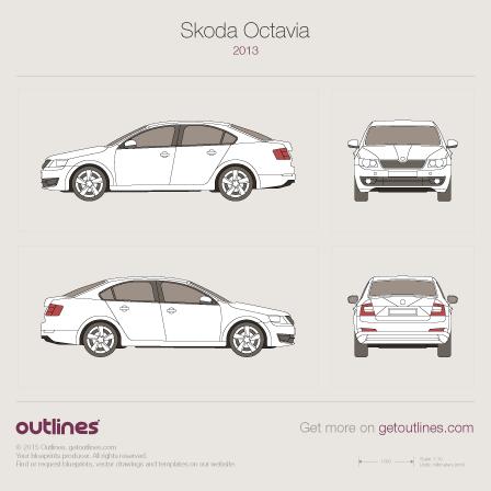 2013 Skoda Octavia Hatchback blueprints and drawings