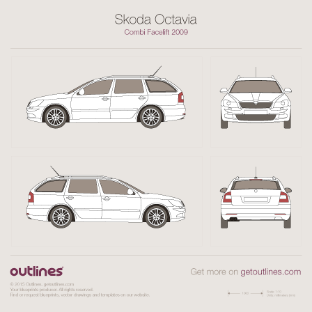 2008 Skoda Octavia A5 Facelift Wagon blueprint