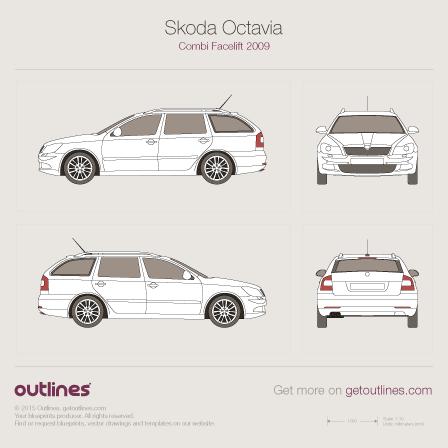 2008 Skoda Octavia A5 Wagon blueprints and drawings