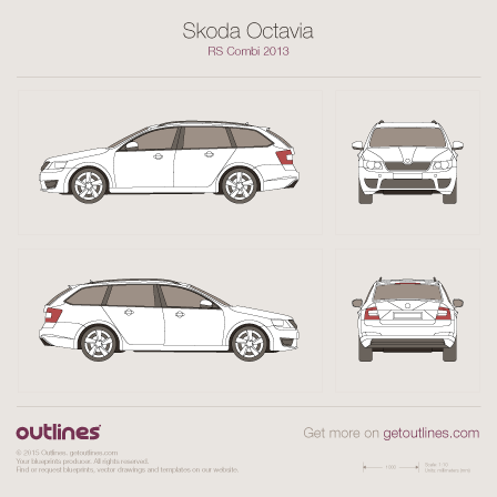 Skoda Octavia RS blueprint