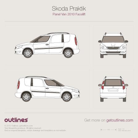 2010 Skoda Praktik Van blueprints and drawings