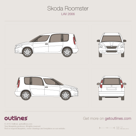 2006 Skoda Roomster Minivan blueprint