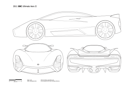 SSC Ultimate Aero drawings