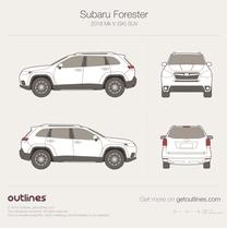 2018 Subaru Forester Mk V SK SUV blueprint
