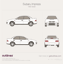 1992 Subaru Impreza Sedan blueprint