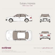 Subaru Impreza WRX blueprint