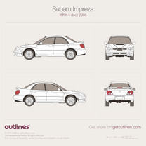2005 Subaru Impreza WRX II Facelift Sedan blueprint