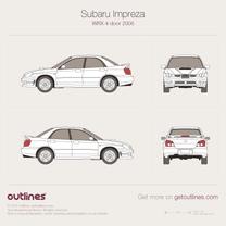 2005 Subaru Impreza WRX II Facelift Sedan blueprint