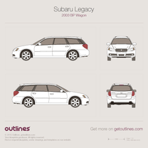 2003 Subaru Legacy BP Wagon blueprint