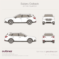 Subaru Outback blueprint