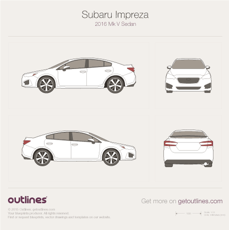 2016 Subaru Impreza V Sedan blueprint