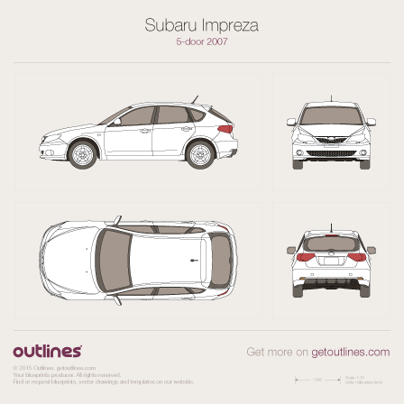 2007 Subaru Impreza WRX III 5-door Hatchback blueprint