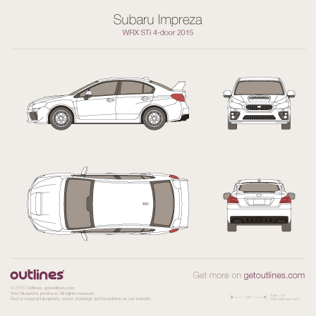 2007 Subaru Impreza WRX STi III Sedan blueprint