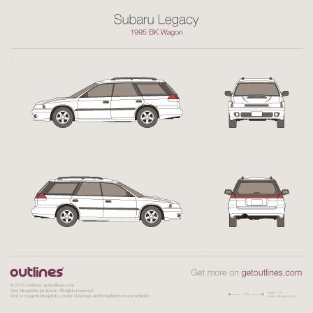 1995 Subaru Legacy BK Wagon blueprint