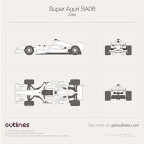 2006 Super Aguri F1 SA06 Formula blueprint