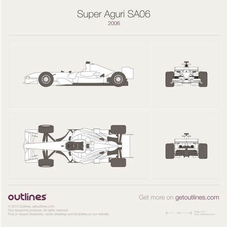 Super Aguri F1 SA06 drawings