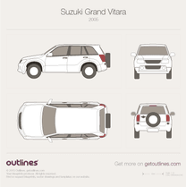 2005 Suzuki Grand Vitara JT SUV blueprint