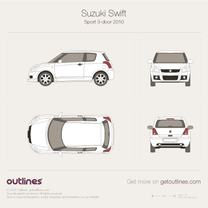 2010 Suzuki Swift Sport 3-door Hatchback blueprint