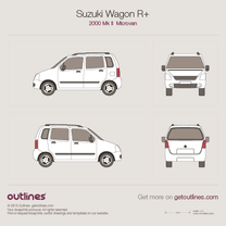 2000 Suzuki Wagon R+ Microvan blueprint